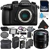 Panasonic Lumix DC-GH5 Mirrorless Micro Four Thirds Digital Camera (Body Only) + Panasonic Leica DG Summilux 12mm Lens + 128GB Class 10 Memory Card Bundle