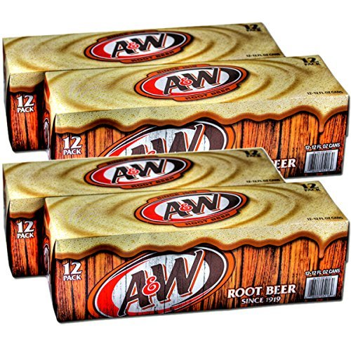 - A & W root beer (A & W Root Beer) 355mlX24 cans input X2 case carbonated beverages