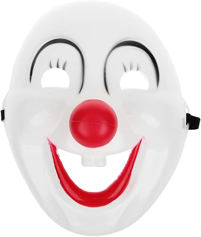Clown Head Roblox Event Amazon Com Clown Mask Halloween Masquerade Party White Black Red Clothing