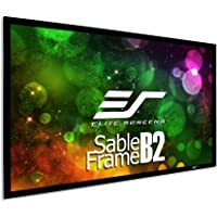 Elite Screens Sable Frame B2, 110-inch Diag. 16:9, Active 3D / 4K Ultra HD Fixed Frame Home Theater Projection Projector Screen Kit, SB110WH2