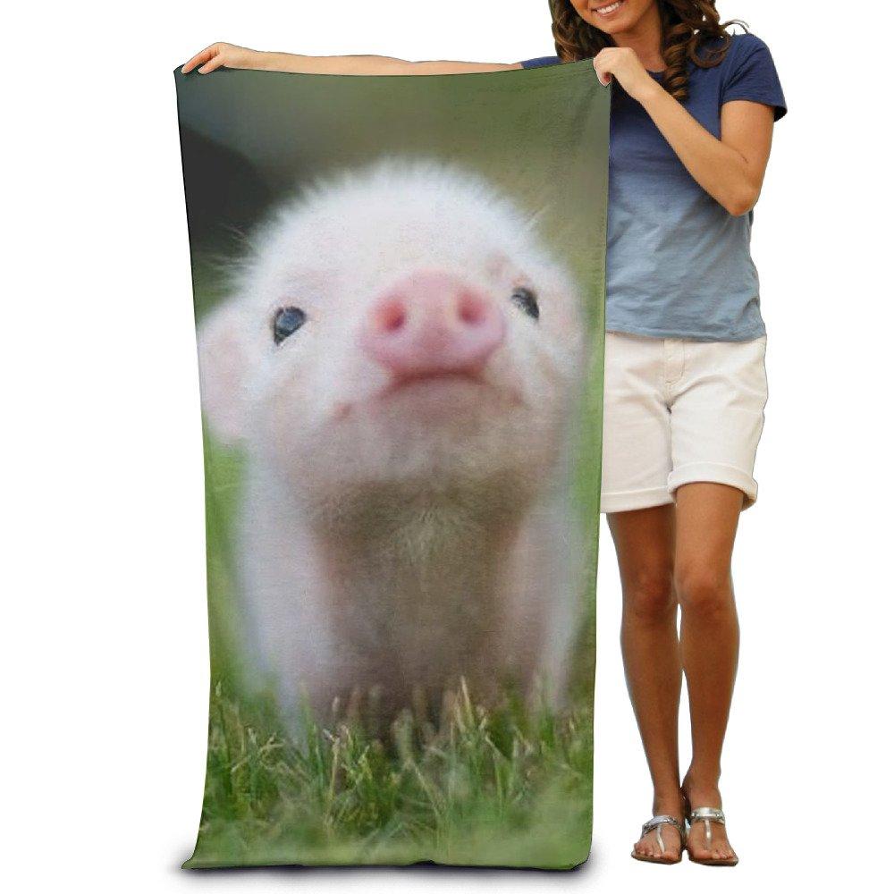 DIMANNU Bath Towel Cute Pig Piggy Animal Patterned Soft Beach Towel 31''x 51'' Towel With Unique Design