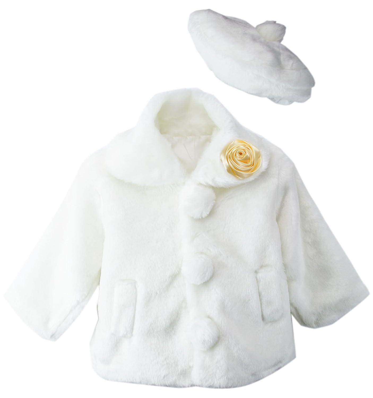 Amazon.com: Little Girls Faux Fur Coat with Hat: Clothing