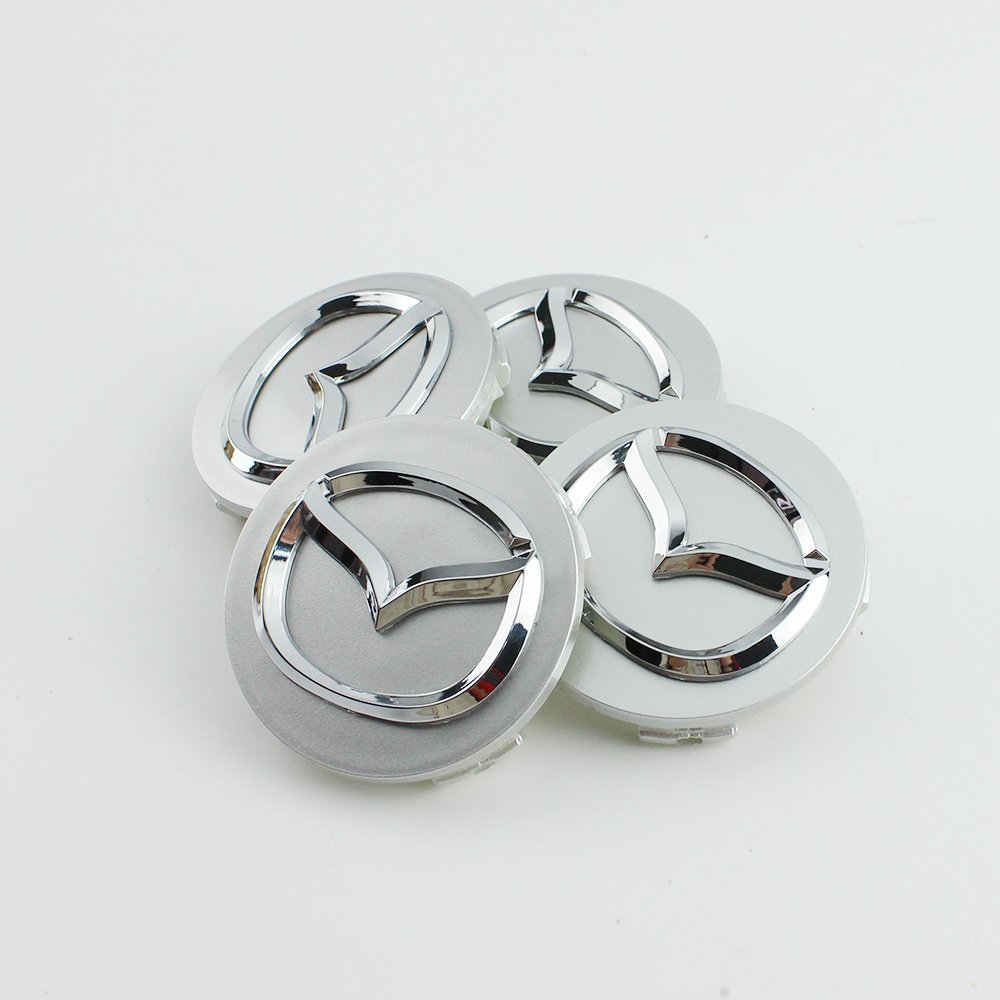 4 embellecedores de aleación para ruedas, 56 mm, para Mazda: Amazon.es: Coche y moto
