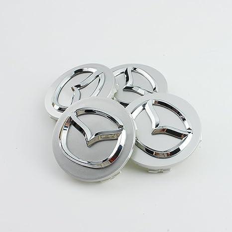 4 embellecedores de aleación para ruedas, 56 mm, para Mazda
