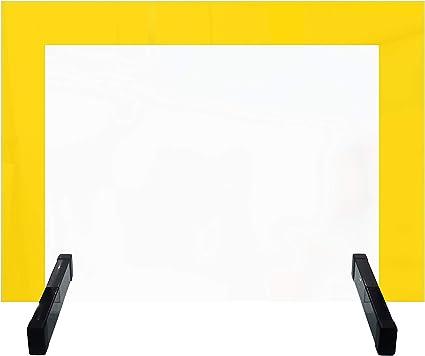 Mampara Protectora con bordes de colores propiedades magnéticas - Pantalla de protección y Separador Anticontagio para escritorios en escuelas, espacios de coworking, etc: Amazon.es: Oficina y papelería