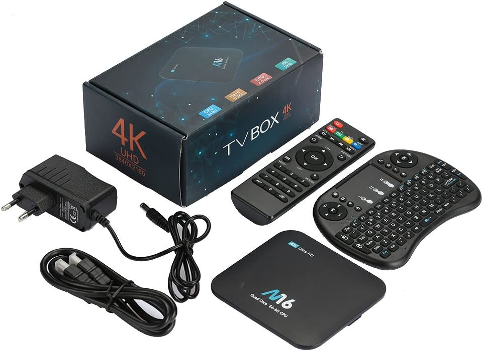Auntwhale Media Smart TV Box Support WiFi 3D 1080P 4K Android 7.1 H.265 1GB/RAM+8GB/ROM External Cards Web Applications IPTV: Amazon.es: Electrónica
