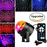 DJ lights Disco Party Ball lights, Blingco LED Rotating Magic lights 3W 7-Color Sound Activated Stage Strobe Effect Show Wedding Lighting bulb Kids Night Lights for Gifts,Club,Holiday