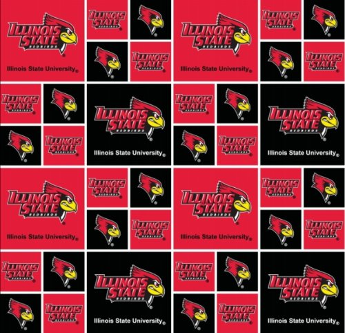 Fabric Stores Illinois (Illinois State University Cotton Fabric-Illinois State Fabric-100% Cotton-sold By the Yard)