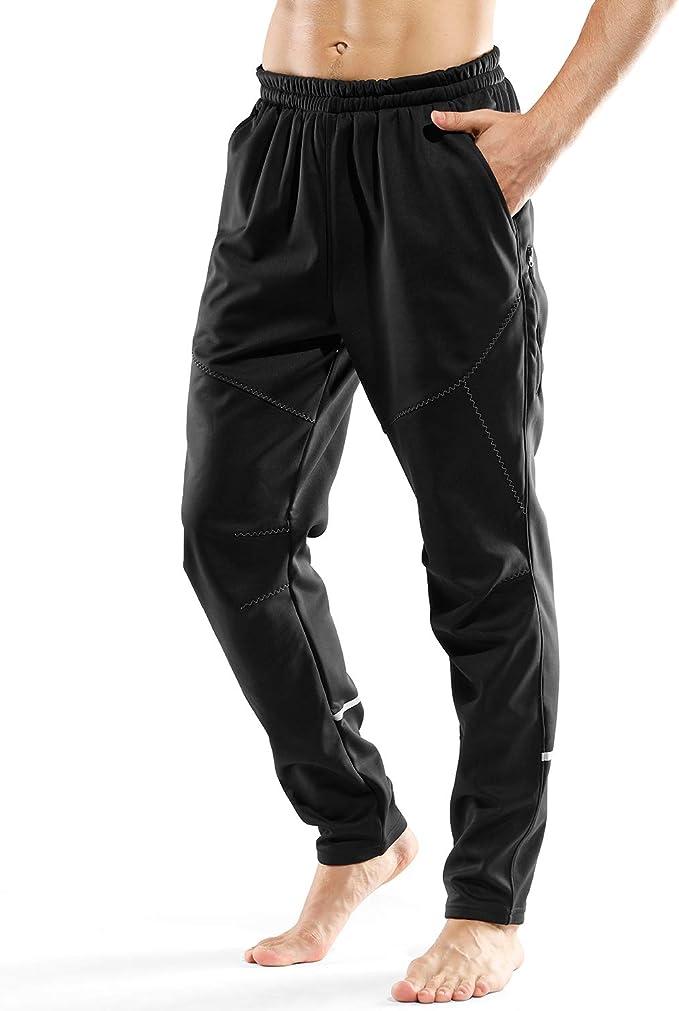 LAMEDA Pantalones Largos Transpirable De Chándal Negro para Hombre ...