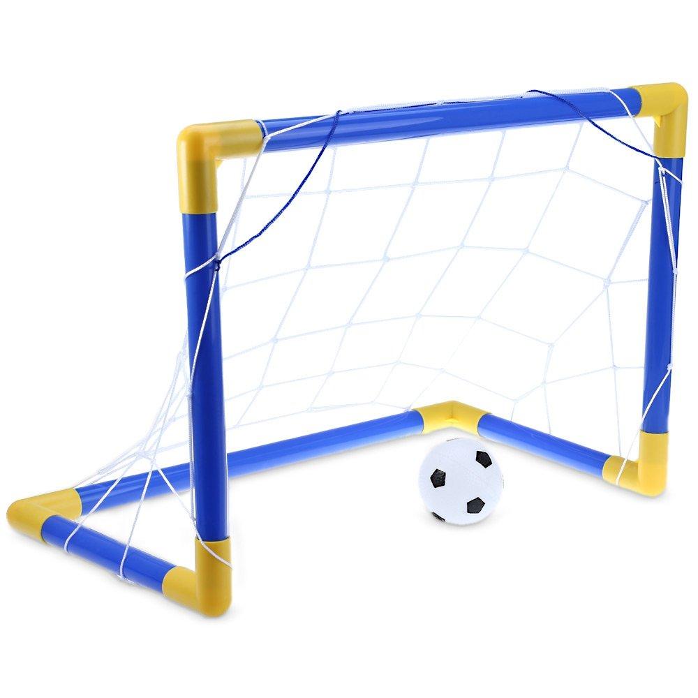 ミニサッカーサッカーゴールポストネットセットポンプ付きインドアアウトドアキッズスポーツ玩具 B078FZWJHY