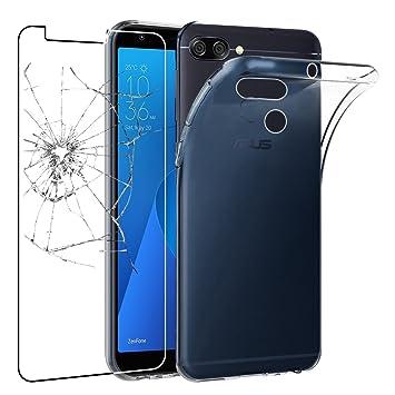 ebestStar - Funda ASUS Zenfone MAX Plus M1 ZB570TL Carcasa Silicona, Protección Claro Ultra Slim, Transparente + Cristal Templado [NB: Leer ...