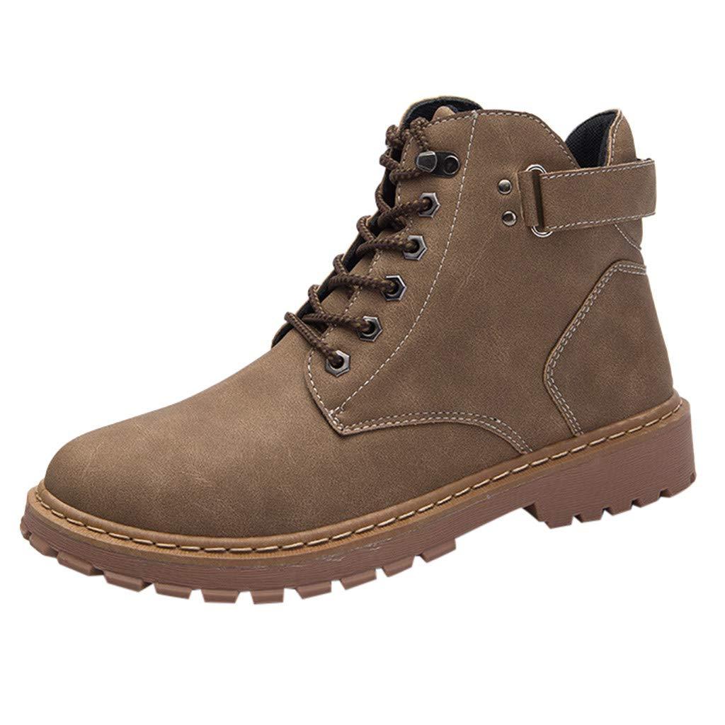 Dasuy Men Women Mid Waterproof Hiking Boot Shoe Outdoor Trekking Slip Resistant Work Safety Shoes Ankle Bootie (US:6.5, Khaki) by Dasuy