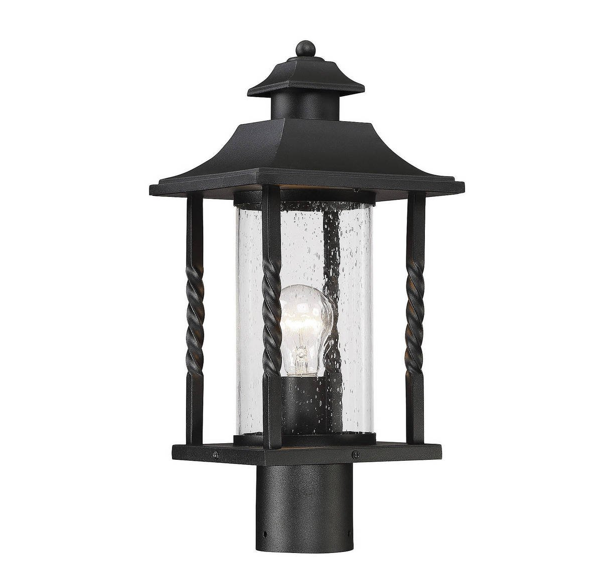 Savoy House 5-1233-BK Dorado Post Lantern in Black by Savoy House