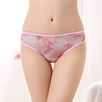 La baja permeabilidad de la impresion fina ropa interior tanga chica,Pink