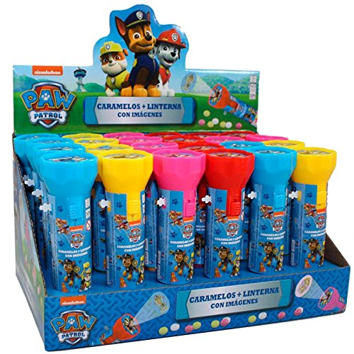 Paw Patrol Espositore N 24 Torce Con Caramelle 8 Gr Amazon It