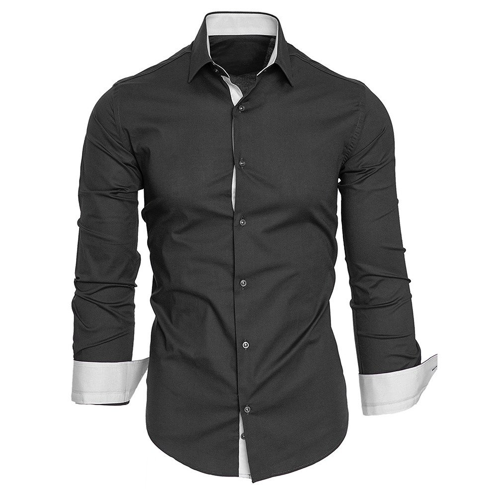 Men's Printed Dress Shirt, Casual Long Sleeve Fit Button Down T Shirts CieKen