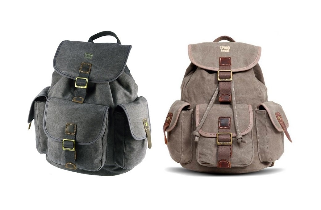 Troop London TRP0269 Heritage Small Canvas Backpack  Amazon.co.uk  Sports    Outdoors f21ddd8d2f1f0