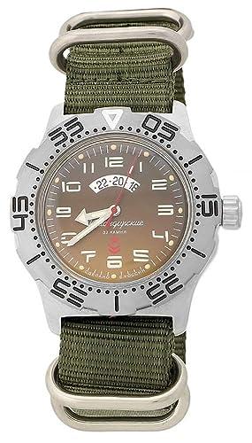 Vostok KOMANDIRSKIE K-35 Militar ruso reloj con Zulu correa K35 2432/350755: Amazon.es: Relojes