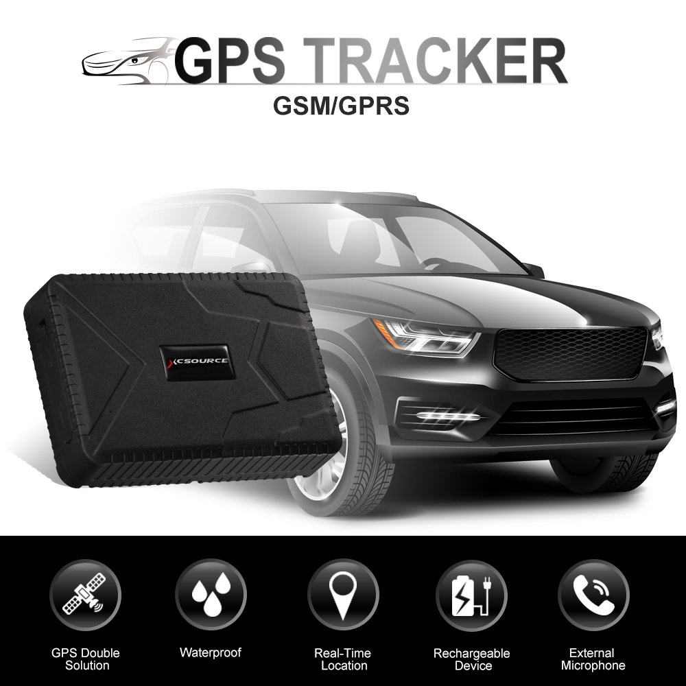 Car GPS Tracker Anti-Lost Waterproof GPS Tracker, 120 days Standby GSM GPRS Real Time Tracking Device Locator for Cars SUVs Motorcycles Trucks Vehicles