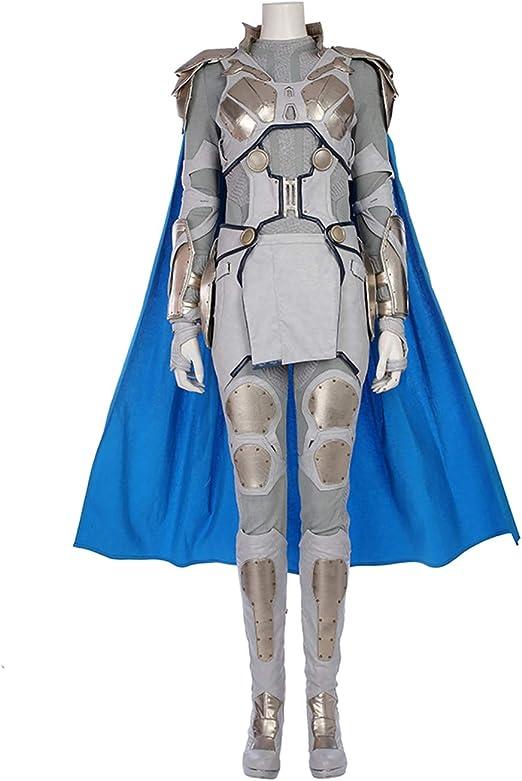 QWEASZER Marvel Avengers Thor 3 Valkyria Valkyrie Battle Disfraz ...
