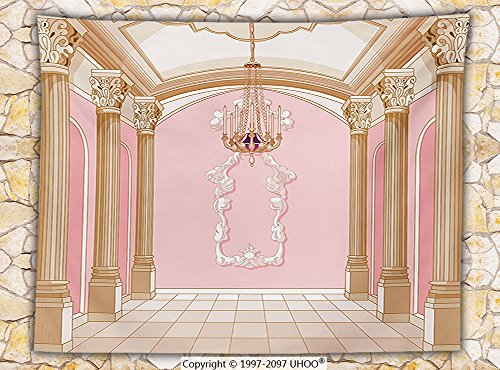 ece Throw Blanket Interior Of The Ballroom Magic Castle Luxurious Chandelier Ceiling columns kingdom Throw (Cage Columns)