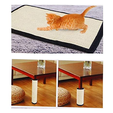 Pawaca Rascador Para Gatos, Sisal Gato Tabla Rascador, Mesa, Sofá, Silla, Patas de Muebles Para Evitar Arañazos