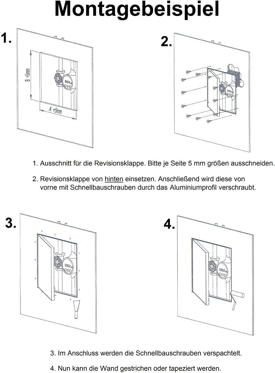 Revisionsklappe GK-Einlage 300 x 600 mm Gipskarton 25 mm doppelt beplankt Revisionst/ür Revision Wartungst/ür 30 x 60 cm Wartung Reinigungsklappe Wartungs/öffnung mit Aluminium-Rahmen Feuchtraumgeeignet gr/ün Trockenbau