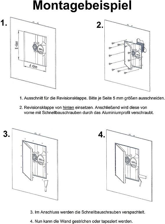 Revisionsklappe GK-Einlage 300x400mm Gipskarton 12,5mm KRAL19 Revisionst/ür Revision Wartungst/ür 30x40cm Wartung Reinigungsklappe Wartungs/öffnung mit Aluminium-Rahmen Feuchtraumgeeignet gr/ün Trockenbau