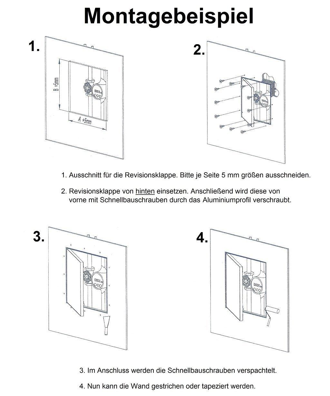 Revisionsklappe GK-Einlage 500x600mm Gipskarton 12,5mm KRAL22 Revisionst/ür Revision Wartungst/ür 50x60cm Wartung Reinigungsklappe Wartungs/öffnung mit Aluminium-Rahmen Feuchtraumgeeignet gr/ün Trockenbau