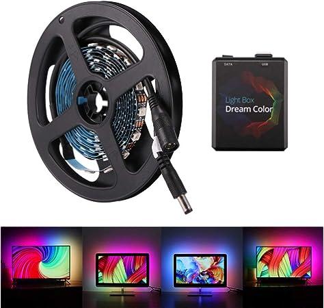 Ambient Lighting LED Strip Kit for HDTV Multi-Color RGB TV LED Backlight Strip Lighting Kit for Flat Screen TV LCD Desktop Monitors Fits Any TV Size: Amazon.es: Iluminación