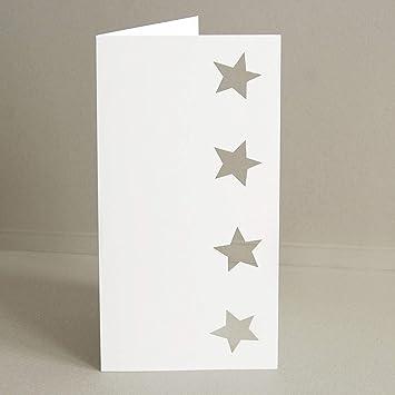 Weihnachtskarten Blanko.10 Blanko Weihnachtskarten Susilou Vier Gestanzte Sterne