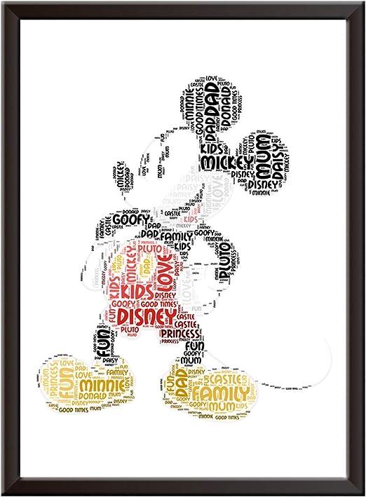 Personalised Gifts Princess Castle Word Art Print