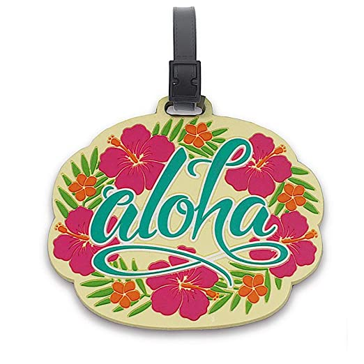 fa278df5c651 Amazon.com: Hawaii PVC Id Luggage Tag Aloha Floral: Clothing