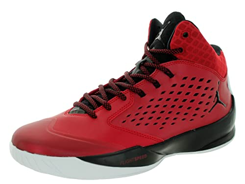 the latest 5c7c7 e9e7a Nike Jordan Rising High, Zapatillas de Baloncesto para Hombre, Rojo Negro  Blanco (Gym Red Black-White), 50 1 2 EU  Amazon.es  Zapatos y complementos