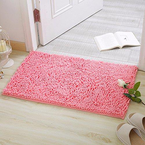 NSSBZZThe carpet of the door mat bedroom kitchen bathroom mat fireplace bath water mat 50 80cm Pink by NSSBZZ