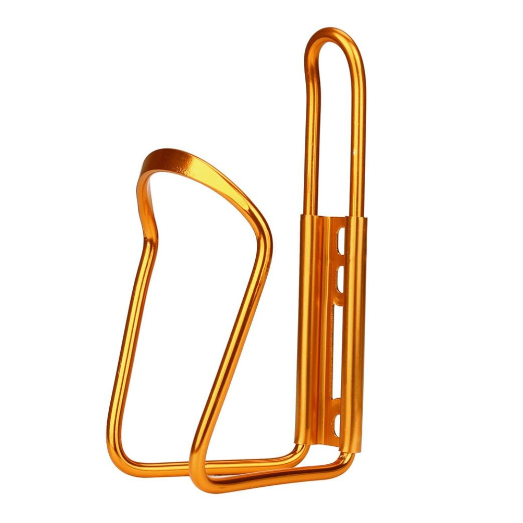Dartphew Bike Accessories,Fashion Outdoor Convenient New Aluminum Alloy Bike Bicycle Cycling Sturdy Structure Drink Water Bottle Rack Holder Cage for Outdoor Hiking Camping Hunting Cycling (Gold)