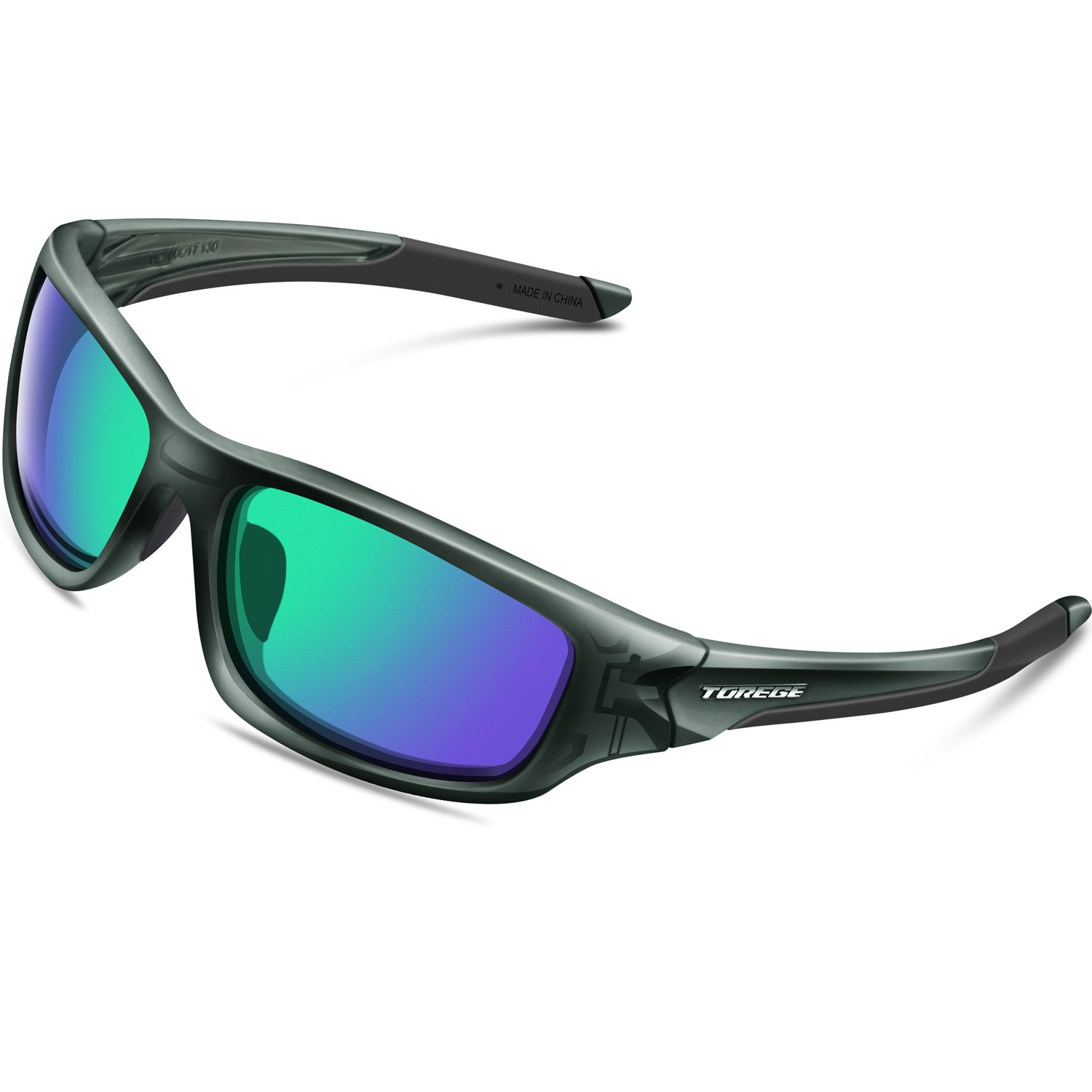 992f9bd570f8f Details about Torege Polarized Sports Sunglasses For Man Women Cycling  Running Fishing Golf