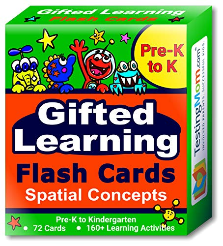 Gifted Learning Flash Cards – Visual Spatial Concepts for PreK – Kindergarten – 1st Grade – Educational Practice for The NNAT Test CogAT Test OLSAT Test WPPSI WISC AABL KBIT SAGES and More