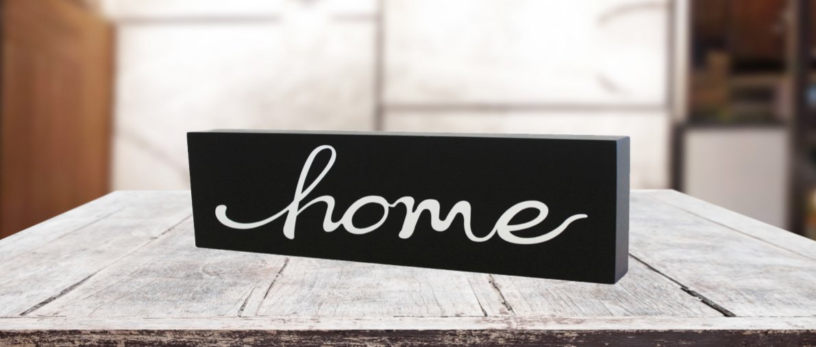 JennyGems Wooden Stand Up Sign Scripted Word Art - Home - Statement Piece - Word Art Home Decor - Interior Design and Decorating - Wall Art
