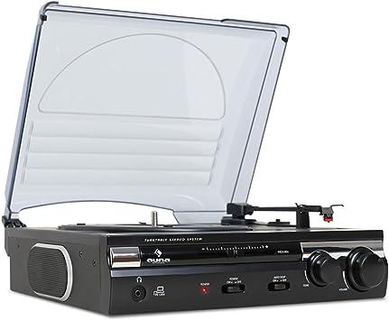 auna TT-182B - Tocadiscos , Reproductor de vinilos , accionamiento ...