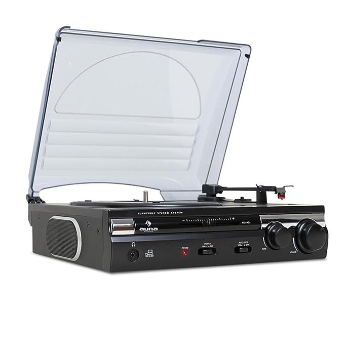auna TT-182B - Tocadiscos , Reproductor de vinilos ...