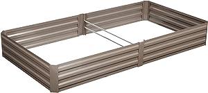 Klismos 8'x4'Garden Bed Metal Outdoor Large Planter Box Patio Raised Garden Bed Kit for Vegetables/Flower/Herb