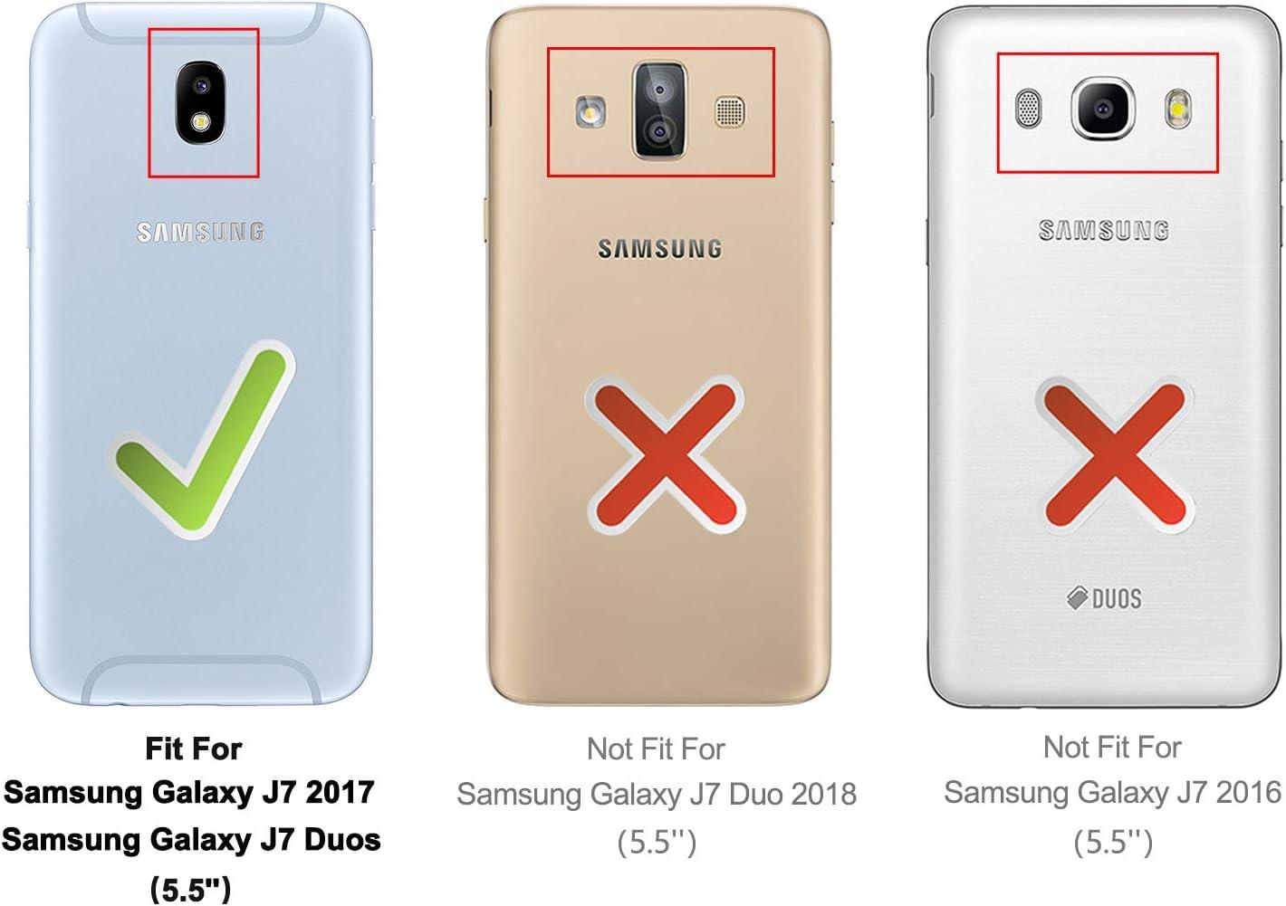 HOOMIL Funda para Samsung Galaxy J7 2017, Funda de Cuero PU ...