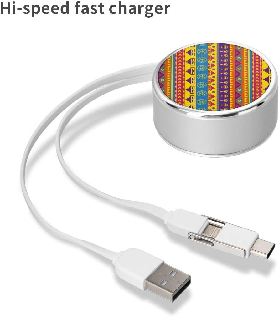 Funny Sloththe Square Three-in-One USB Cable is A Universal Interface Charging Cable Suitable for Various Mobile Phones and Tablets