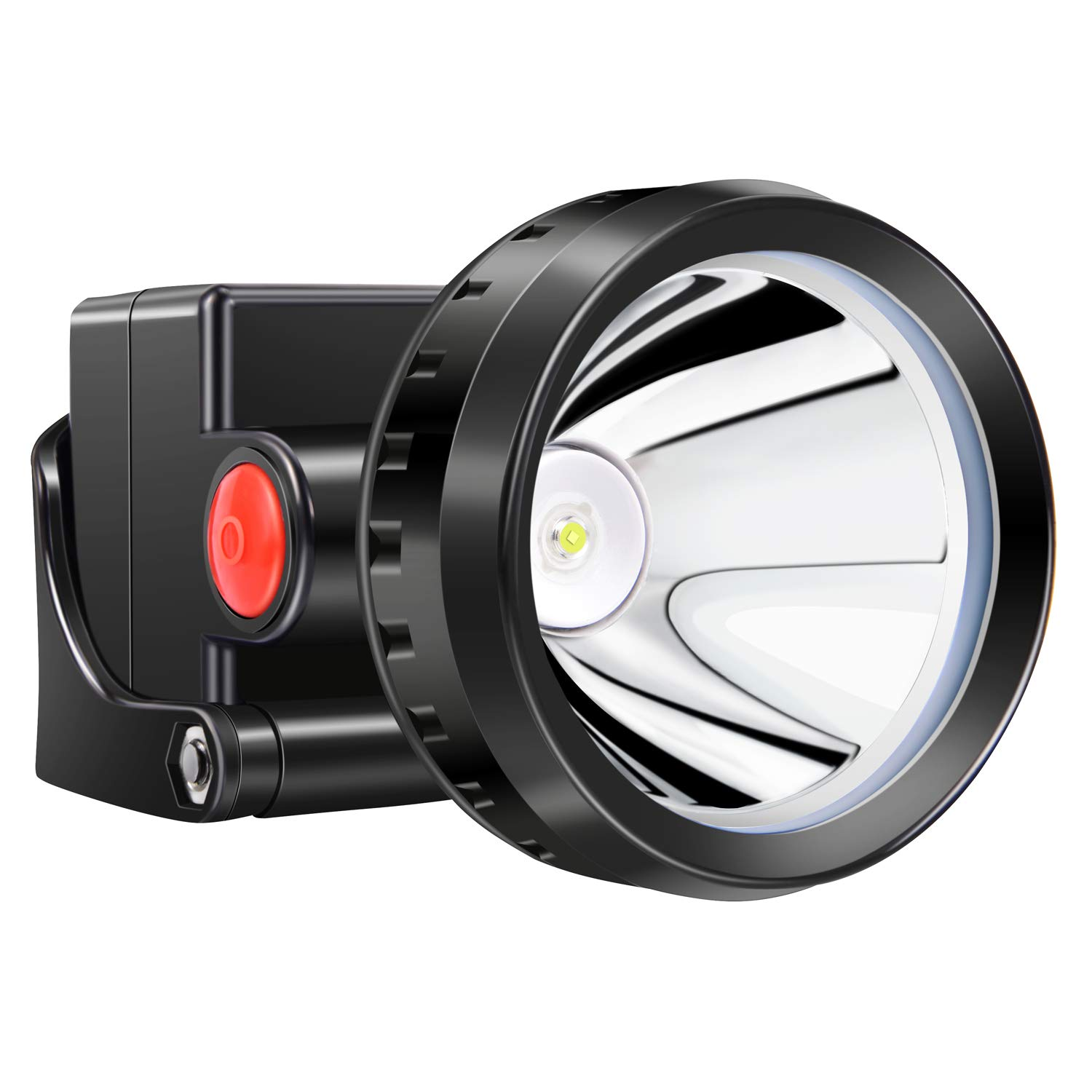 Kohree 3W KL2.8LM LED Miner Headlight Lamp 2000/15000 Lux Mining Light Cap Lamp Explosion Shock Proof-Perfect for Camping/Fishing/Hiking