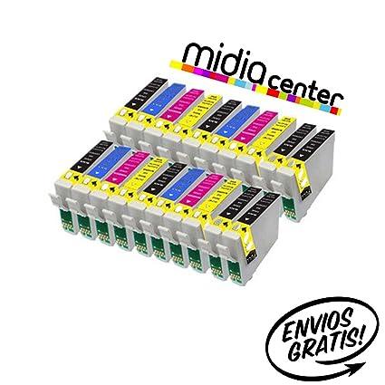 MIDIACENTER - 20 Cartuchos compatibles de tinta T1285 para ...