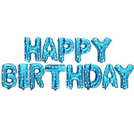 40CM Feliz cumpleaños Banner Foil Bunting Letras para ...