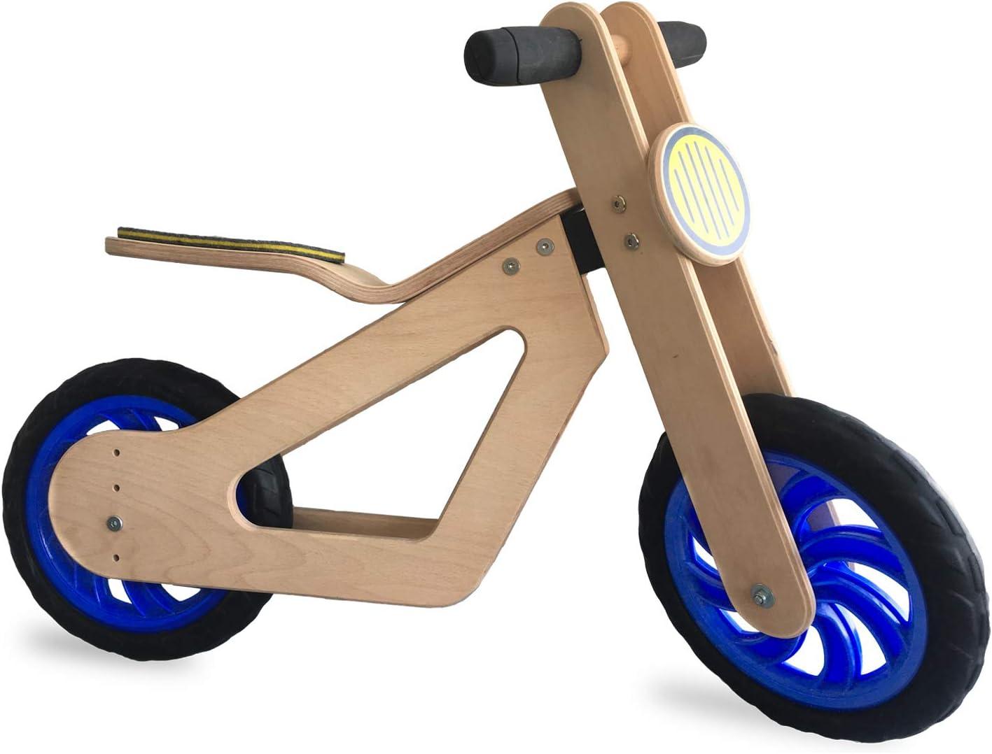 Mamatoyz - Balance Bike, Bicicleta Bebé de Equilibrio de Madera Natural, Para Niños a Partir de 24 Meses | Bicicleta Equilibro Para Niños de Madera 2 Años