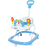 GoodLuck Baybee Round Baby Walker Cum Rocker for Kids | Music & Light Function with Parent Control Push Bar and Stopper,Fun Toys & Activities for Babies/Childs (6 Months to 2 Years) (Blue)