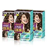 Schwarzkopf PURE COLOR Permanent Gel Coloration No.6.0 CAFFE LATTE ( 3er Pack )